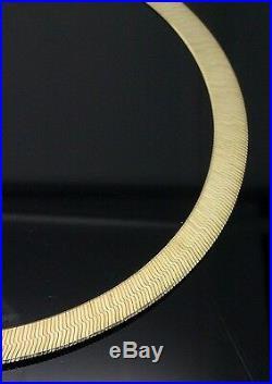 10K Genuine Gold Herringbone Necklace Chain 12 mm 22 inch, Christmas SALE! N