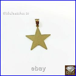10k Gold Solid Star Sign Charm Pendant Diamond Cut Luck Real 1okt For Chain SALE