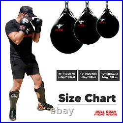 16 30kg Bull Doza Fight Wear Aqua Punch Bag Boxing Mma Flash Sale