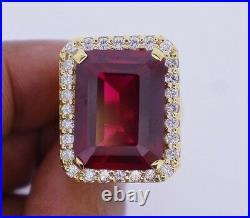 1.70Cts White RD Men's Custom Ring 14 Grams 10K YG Valentineday Spl. Sale
