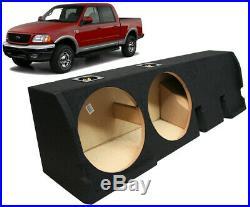 2001-2003 Ford F-150 Super Crew Truck Dual 12 Subwoofer Sub Box Enclosure New