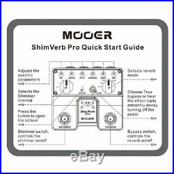 2019 Mooer Shimverb Reverb Pro Twin Effects Pedal! 1/2 PRICE SALE! BRAND NEW
