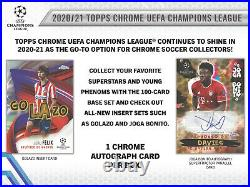2020-21 Topps UEFA Champions League Chrome Hobby Box Sealed Pre-sale BRAND NEW