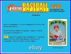 2021 Topps Heritage Baseball Retail Display Box 24 Packs Pre-Sale