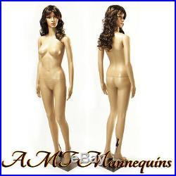 33/24/35 5ft 8 tall, ON SALE-Female mannequin, head rotates, manikin Anna+2Wigs
