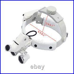 3.5X Dental Surgical Medical Headband Binocular Loupes LED Headlight SALE
