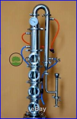 4 Alcohol Distillation Flute Column with Copper Bubble Plate For Sale