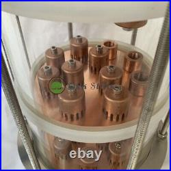 6 Glass Alcohol Moonshine Still Flute Column with Copper Bubble Plate For Sale
