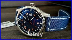Alpina Startimer Pilot Quartz Watch, 42mm Blue MEN box+ papers Clearance sale