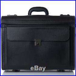 Alpine Swiss 19 Wheeled Briefcase Rolling Case Sales Sample Pilot Lawyer Attache
