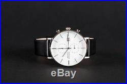 BAUHAUS chronograph watch WHITE, limited edition, brand new + box! SALE