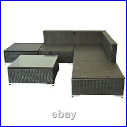 Black Friday SALE 6pcs All-weather Rattan Sofa Wicker Sectional Patio Set