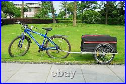 Black Friday SALE Bike Cargo Trailer with Rain Cover Bicycle Large Carrier Cart