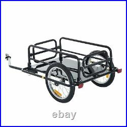 Black Friday SALE Bike Cargo Trailer with Two Wheels Bicycle Large Carrier Cart