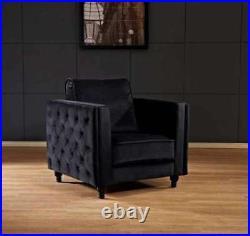 Brand New Luxury Black Velvet Paris Chair Sale Now On