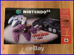 Brand New Uncirculated Nintendo 64 Atomic Purple Pulled From Factory Case Sale