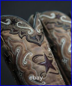 Brand new BROWN & RED with inlays womens ladies cowboy boots sale! Size 8.5