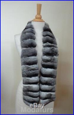 CLEARANCE SALE Brand New Genuine Chinchilla Fur Scarf Collar