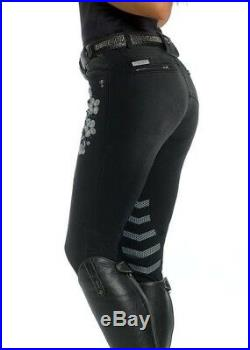 Christmas Sale! AZTEC DIAMOND LIMITED GREY FLORAL BREECHES UK 8 BRAND NEW