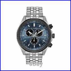 Citizen Brycen Eco-Drive Men's Perpetual Chronograph 44mm Watch BL5568-54L SALE