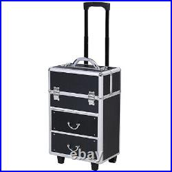 Cyber Monday Sale, Rolling Makeup Case Train Cosmetic Jewelry Organizer