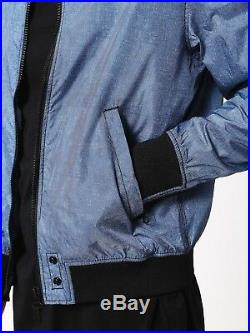 Diesel Men's Jacket Size Large Brand New Blue Cotton Poly Rrp £200 Limited Sale