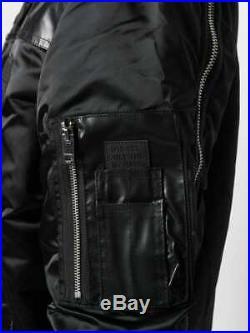Diesel Mens Jacket Size Large Brand New Rrp £250 Black Fur Collar Now On Sale