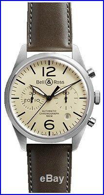 Discount Sale Bell & Ross Vintage Brand New Men's Watch Ref. BRV126-BEI-ST/SCA