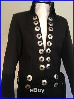 Elvis Black Concho Jumpsuit And Belt Brand New £300 Quick Sale