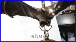 FLASH SALE! $100 OFF thru 10/4 FABULOUS! #100 BAT CHANDELIER Solid Bronze