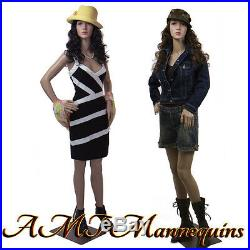 Female display mannequin on sale, durable plastic manikin-P8 +2FreeWigs