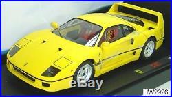 Ferrari F40 Yellow Hot Wheels Elite Edition 118 J2926 Brand New Sale Auction
