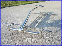 Final Sale Stainless Steel Chassis for Radio Flyer Wagon Pull Rod, Quick Release