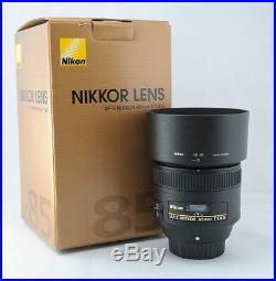 Give Away Deal Sale Nikon G Af-s Nikkor 85mm f/1.8G Lens 2201 Hood & Pouch