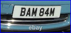 Great personalised dateless number plate for sale BAM 84M (Bam Bam) on retention