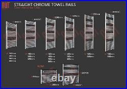 HUGE SALE Chrome Straight & Curved Heated Towel Rail Warmers Bathroom Radiators