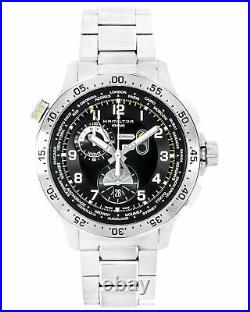 Hamilton Khaki World Timer Chronograph Quartz Men's Watch H76714135! SALE