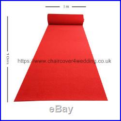 Heavy Duty Reusable Walkway Carpet Aisle Runner for Sale (10M L x1M Wide)- RED