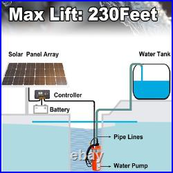 Hot Sale 24V DC Solar Powered Stainless Deep Well Water Pump Submersible Pump