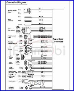 Hot Sale 36V/48V 1000W 30A Brushless DC Sine Wave Controller + LCD Control Panel