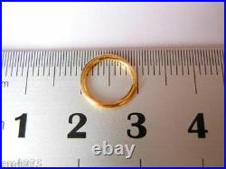 Hot Sale Authentic 999 24K Yellow Gold Women's Circle Hoop Earrings 10mm