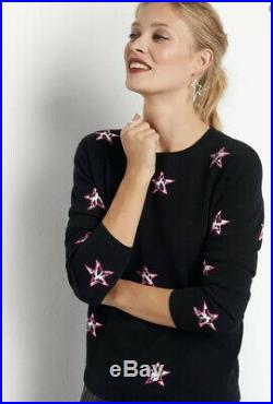 Husb Animal Star Cashmere Jumper, RRP £220, XS, Brand New, Non Sale Item