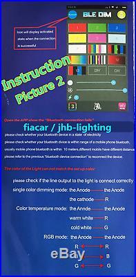 Jhb-lighting 15.5 4PCS MultiColor Pro Chasing Bluetooth Truck LED Wheel Lights