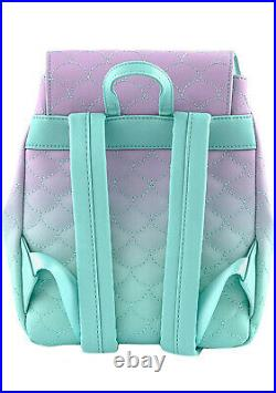 LOUNGEFLY X Disney The Little Mermaid Ombre Scales Mini Backpack SALE WDBK1473