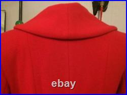 Ladies vintage 1940s/50s swing style fit and flare wool Coat. RED. MASSIVE SALE