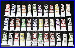 Lot Of 36 GAMBLIN 1980 OIL COLORS 37ml Tubes Brand New! SALE