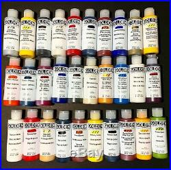 Lot of 30 GOLDEN FLUID ACRYLICS Paint 4oz Bottles Brand NEW! Last Set On SALE