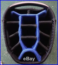 Lynx Black Cat 9.5 Deluxed Cart Bag Black/Blue Brand New Boxed 60% Off Sale