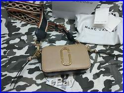 MARC JACOBS Logo Strap Snapshot Small Camera Bag light brown Sales