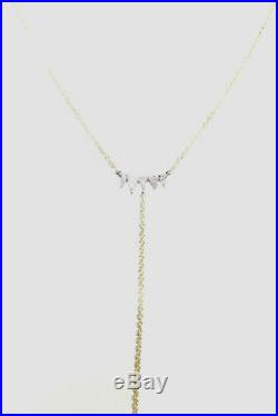 MEIRA T 14k Yellow Gold Spike Lariat Necklace -Brand New! On SALE 16-18 Adjus